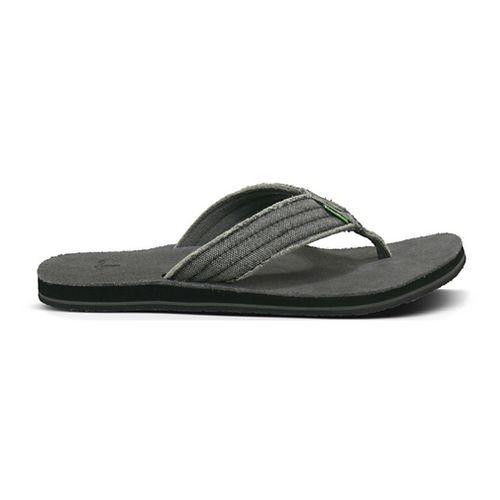 Mens Sanuk Fraid Not Sandals Shoe - Charcoal 11