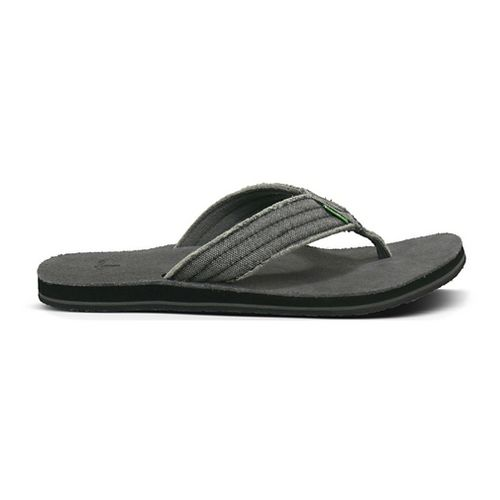 Mens Sanuk Fraid Not Sandals Shoe - Charcoal 8
