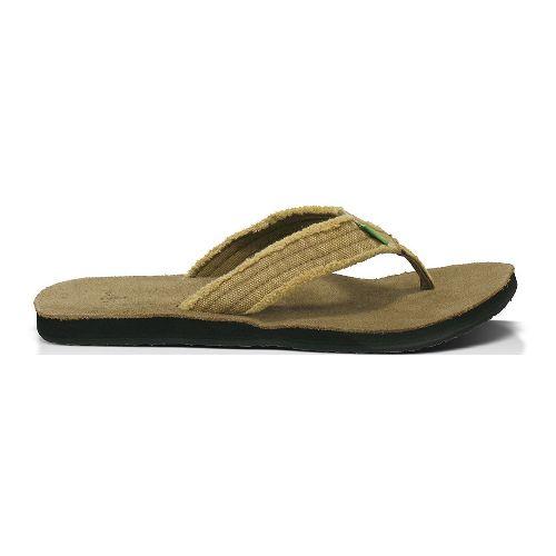Mens Sanuk Fraid Not Sandals Shoe - Khaki 10