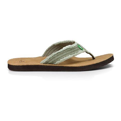 Mens Sanuk Fraid Not Sandals Shoe - Olive 7