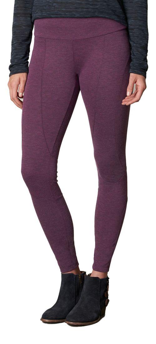 Womens prAna Moto Tights & Leggings Tights - Red XL