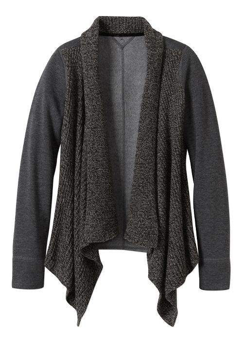 Womens prAna Demure Cardigan Long Sleeve Non-Technical Tops - Charcoal M