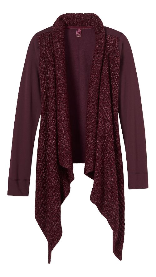 Womens prAna Demure Cardigan Long Sleeve Non-Technical Tops - Purple XL