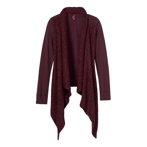 Womens prAna Demure Cardigan Long Sleeve Non-Technical Tops - Purple XL