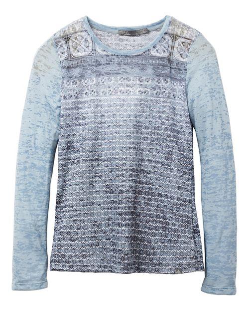 Womens prAna Lottie Long Sleeve Non-Technical Tops - Grey L