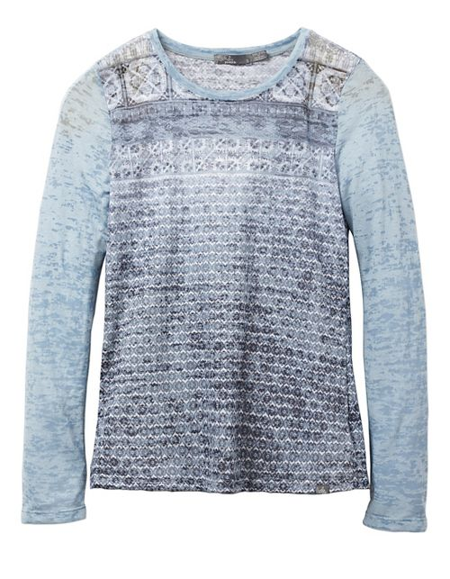 Womens prAna Lottie Long Sleeve Non-Technical Tops - Grey M