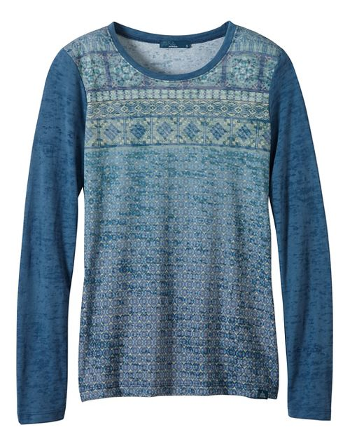 Womens prAna Lottie Long Sleeve Non-Technical Tops - Green M