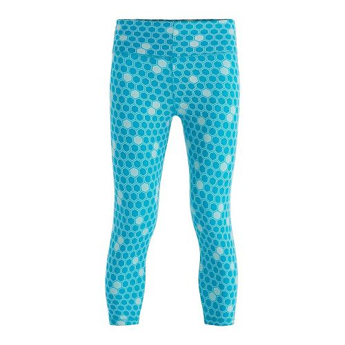 Womens Tasc Performance NOLA Crop - Print Capris Tights - Marlin L