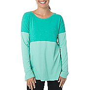 Womens Tasc Performance Pura Open Back Tunic Long Sleeve Technical Tops