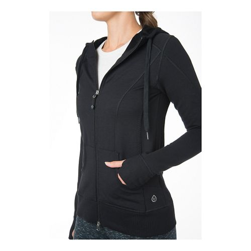 Womens Tasc Performance Uptown Full-Zip Hoodie & Sweatshirts Technical Tops - Black XS