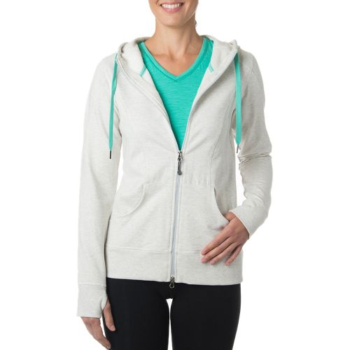 Womens Tasc Performance Uptown Full-Zip Hoodie & Sweatshirts Technical Tops - Ash Heather XS