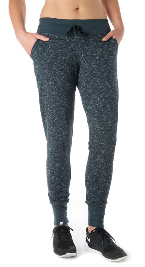 Womens Tasc Performance Riverwalk French Pants - Granite Heather M
