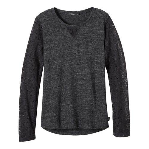 Womens prAna Darla Long Sleeve Non-Technical Tops - Black XL