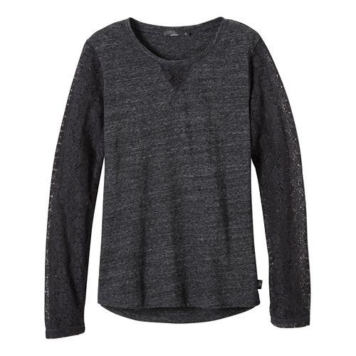 Womens prAna Darla Long Sleeve Non-Technical Tops - Black XS