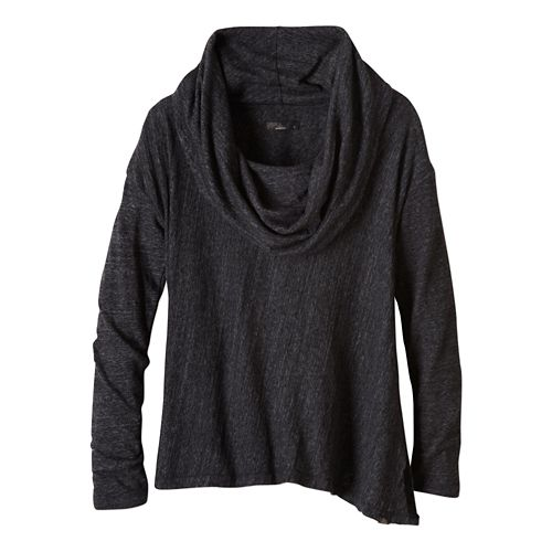 Womens prAna Ginger Long Sleeve Non-Technical Tops - Black L