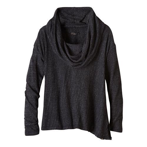 Womens prAna Ginger Long Sleeve Non-Technical Tops - Black S
