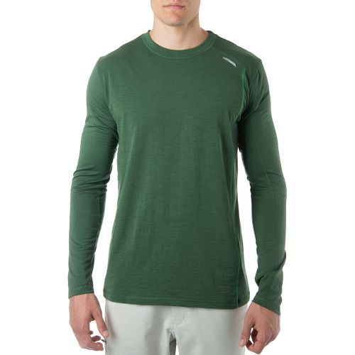 Mens Tasc Performance Elevation Long Sleeve Technical Tops - Pine Green L