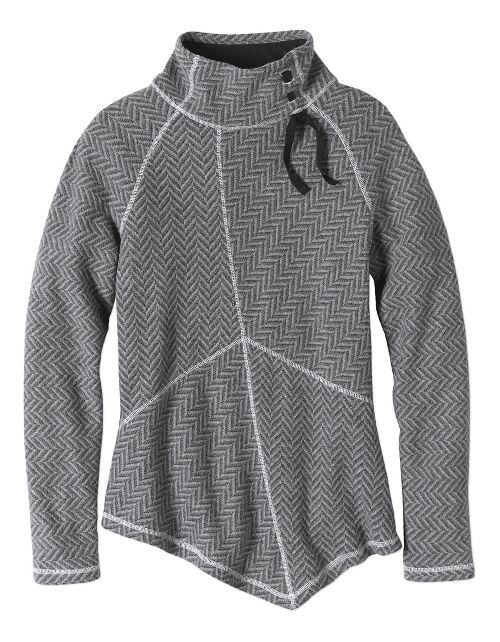 Womens prAna Mattea Sweater Long Sleeve Non-Technical Tops - Black XL