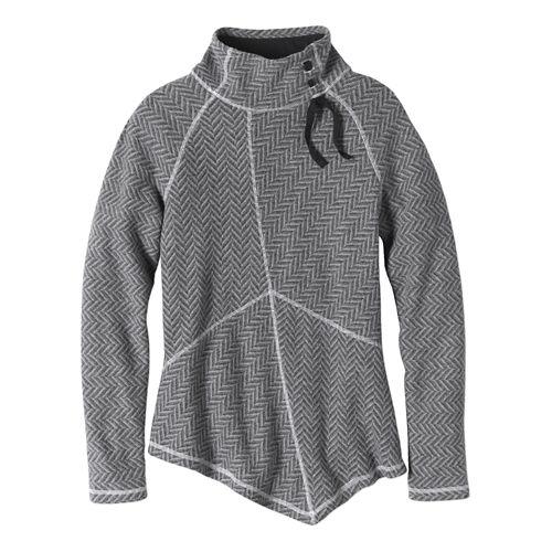 Womens prAna Mattea Sweater Long Sleeve Non-Technical Tops - Black XS