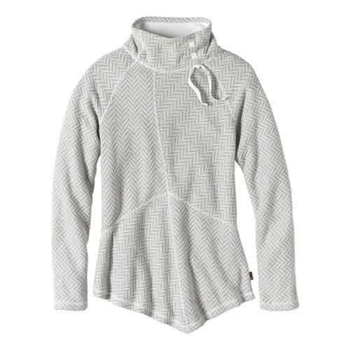 Womens prAna Mattea Sweater Long Sleeve Non-Technical Tops - Natural XL
