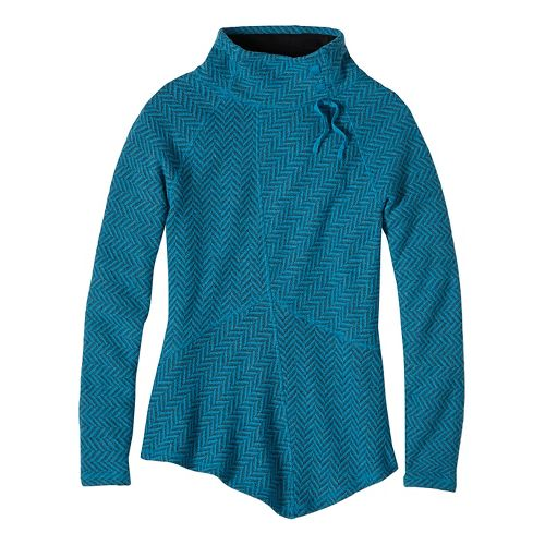 Womens prAna Mattea Sweater Long Sleeve Non-Technical Tops - Green XL