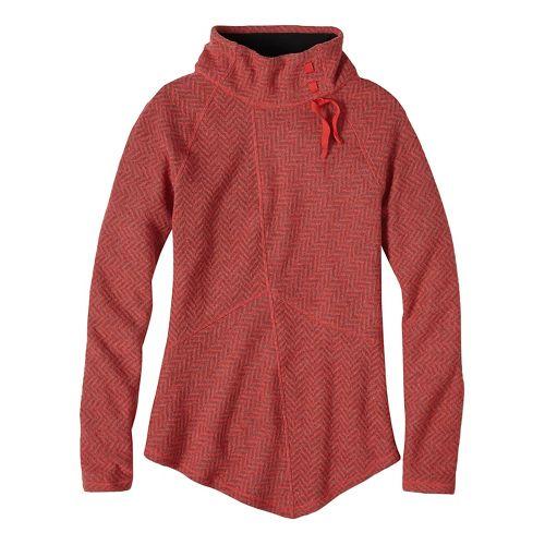Womens prAna Mattea Sweater Long Sleeve Non-Technical Tops - Red L