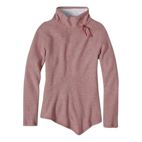 Womens prAna Mattea Sweater Long Sleeve Non-Technical Tops - Pink M