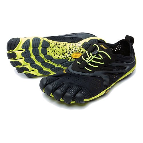 Mens Vibram V-Run Running Shoe - Black/Yellow 40