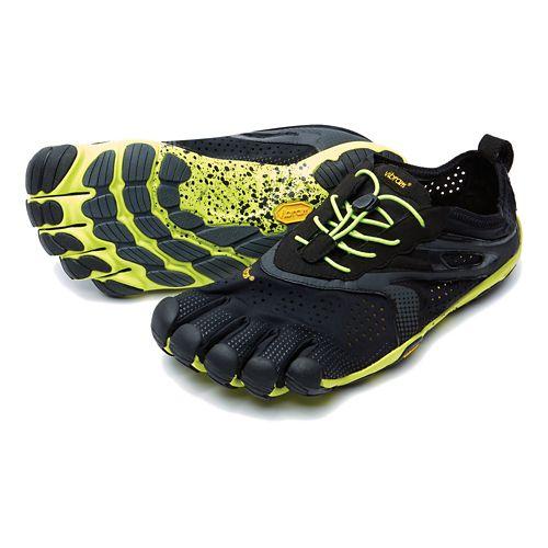 Mens Vibram V-Run Running Shoe - Black/Yellow 40