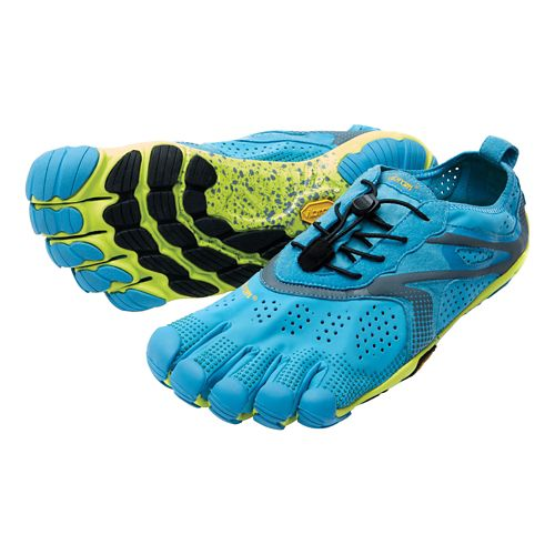 Mens Vibram V-Run Running Shoe - Blue/Yellow 42