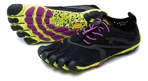 Womens Vibram V-Run Running Shoe - Black/Yellow 35