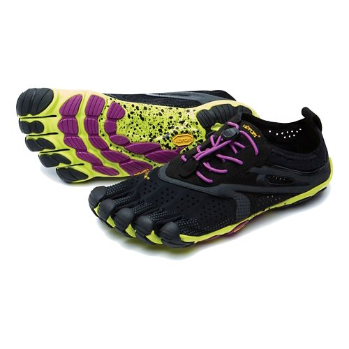 Womens Vibram V-Run Running Shoe - Black/Yellow 37
