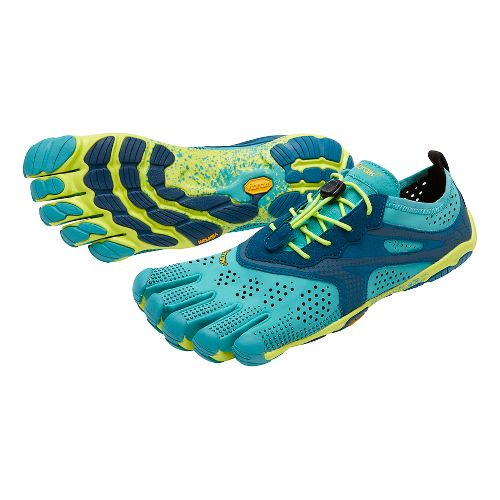 Womens Vibram V-Run Running Shoe - Teal/Navy 40