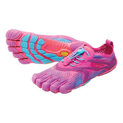Womens Vibram V-Run Running Shoe - Purple/Blue 38
