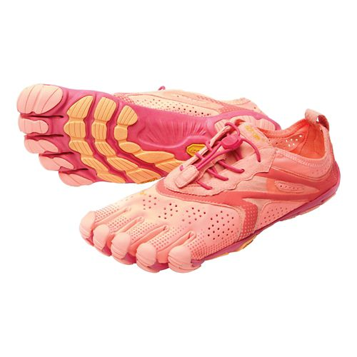 Womens Vibram V-Run Running Shoe - Pink/Red 38