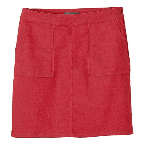Womens prAna Kara Fitness Skirts - Sunwashed Red OS
