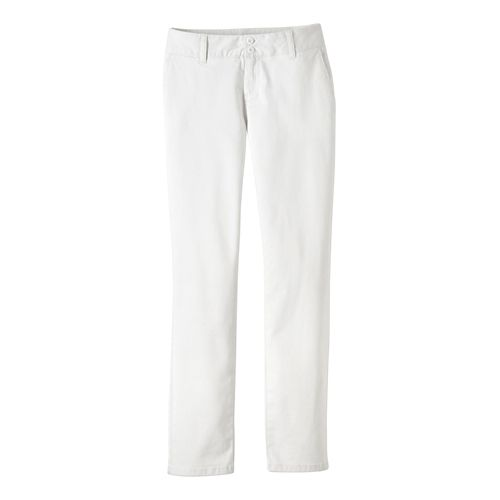 Womens Prana Stella Pants - White 8