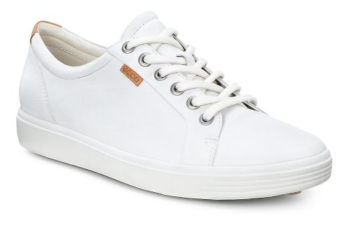 Womens Ecco Soft VII Sneaker Casual Shoe - White 38