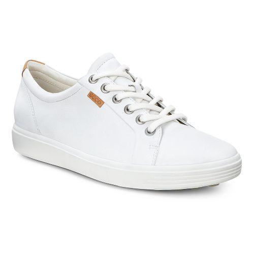 Womens Ecco Soft VII Sneaker Casual Shoe - White 40