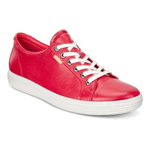 Womens Ecco Soft VII Sneaker Casual Shoe - Tomato 39