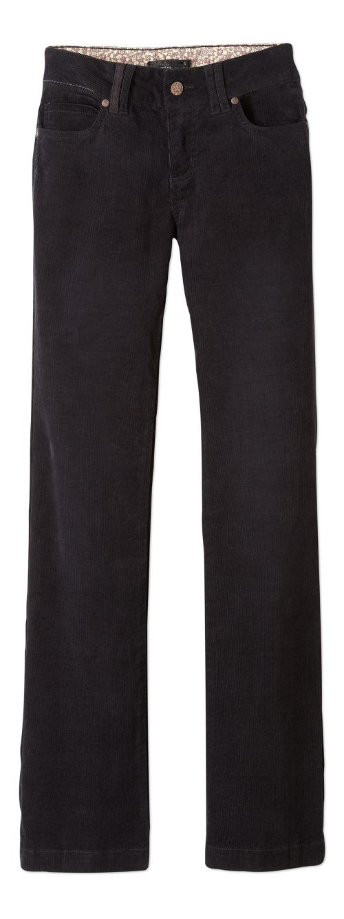 Womens prAna Crossing Cord Pants - Black 4-T