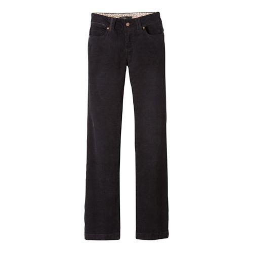 Womens prAna Crossing Cord Pants - Black 0-T