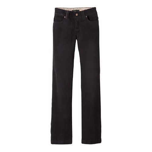 Womens prAna Crossing Cord Pants - Black 2-S