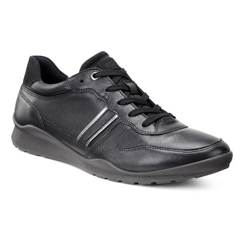 Womens Ecco Mobile III Tie Casual Shoe - Black/Dark Shadow 40