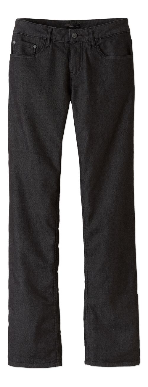 Womens prAna Lined Boyfriend Jean Pants - Black 6
