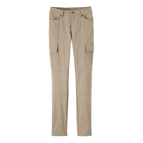 Womens prAna Meme Pants - Dark Khaki 12