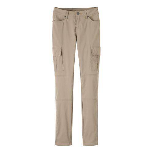 Womens prAna Meme Pants - Dark Khaki 14