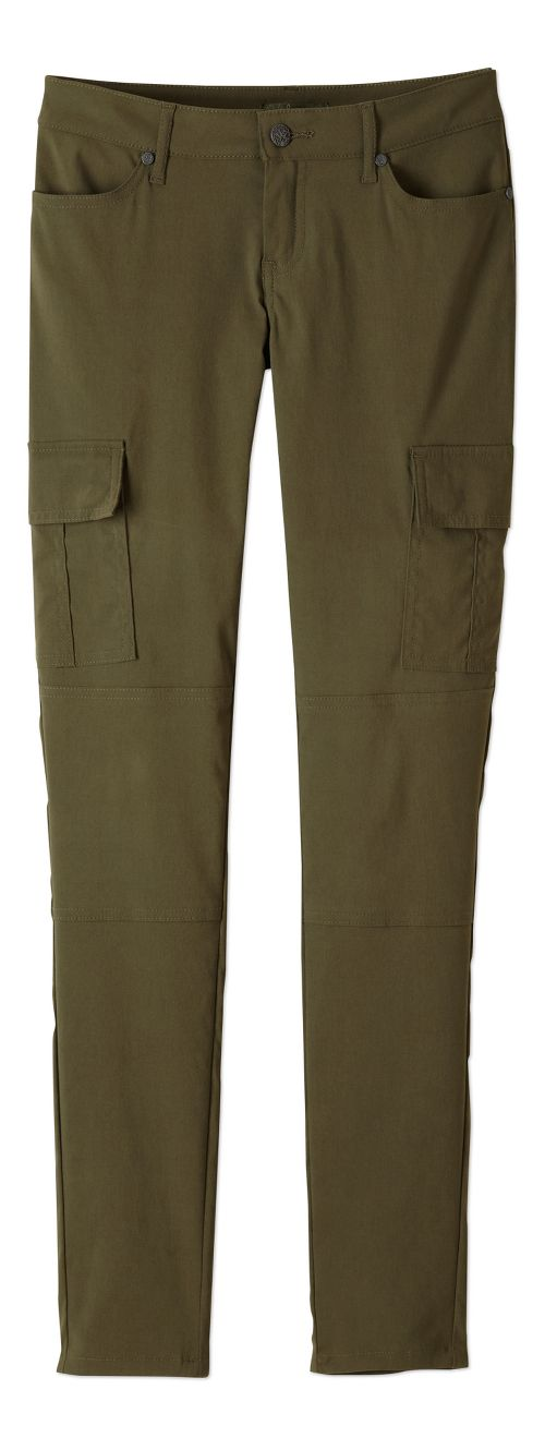 Womens prAna Meme Pants - Cargo Green 14