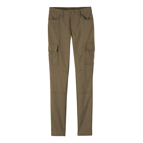 Womens prAna Meme Pants - Cargo Green Quartz 14
