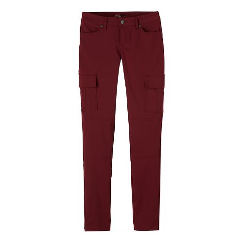 Womens prAna Meme Pants - Red 10